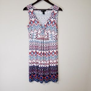 Style & Co. Red White Blue Sleeveless Dress